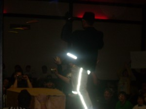 ESW Champion Kevin Grace's awesome ring gear doesn't photograph too well.