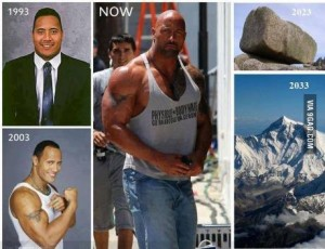 The evolution of The Rock. Also #PEDS