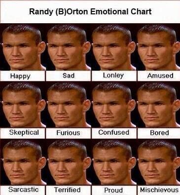 Randy Orton is the king of facial expressions.