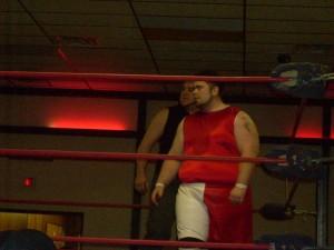 Brett Mednik prepares for his match.