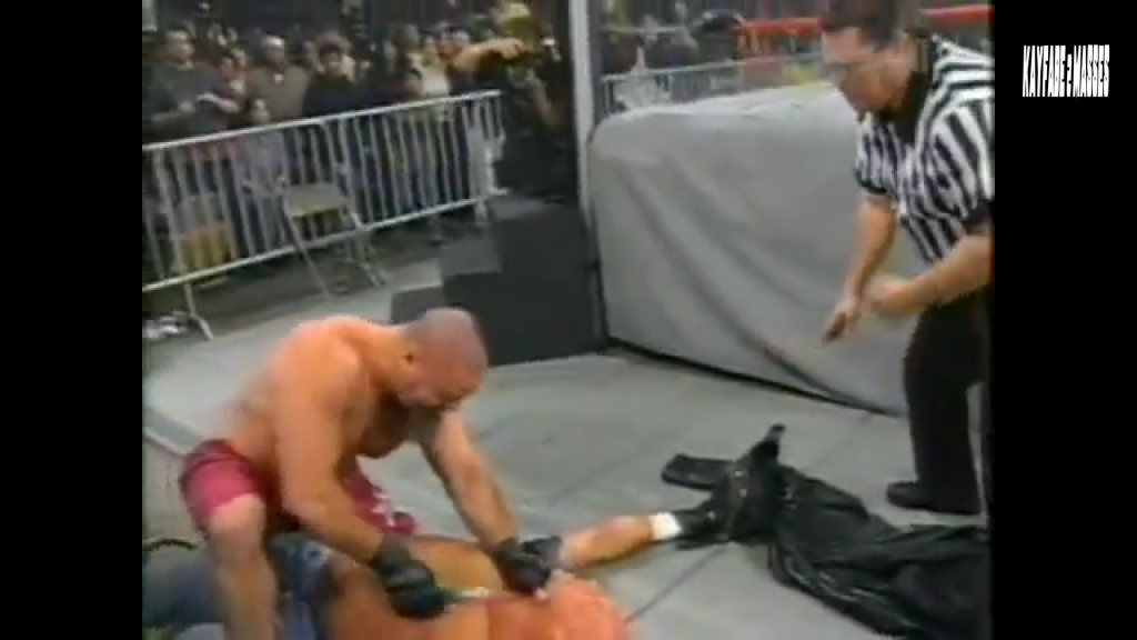 """That's Tank Abbot giving a whole new meaning to """"blade job""""."""