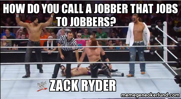 Not saying 3MB are jobbers.  Never!  Saying that Rusev is a jobber.  Dude is never going to get over.