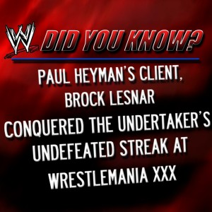 I did not know this. Thanks WWE!